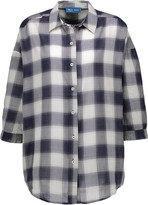 MiH Jeans Poets checked woven shirt