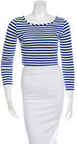 By Malene Birger Cropped Stripe T-Shirt