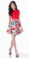 Terani Couture Mikado Two Piece Floral Homecoming Dress