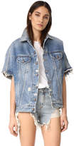 R 13 Drop Shoulder Denim Vest