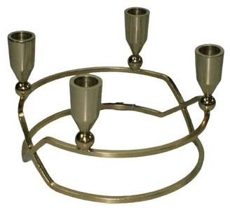Elégance Antique Gold 4-Lite Candle Holder