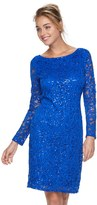 Onyx Nite Women's Sequin Lace Sheath Dress