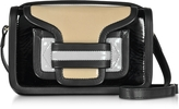 Pierre Hardy Color Block Patent Leather Alpha Crossbody Clutch