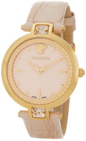 Versace Women's Olympo Croc Embossed Leather Strap Watch