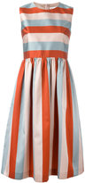 RED Valentino striped flared dress - women - Silk/Polyester/Acetate - 46