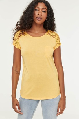 Ardene Eco-Conscious Recycled Fabric Top with Lace