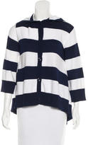 Alice + Olivia Striped Hooded Cardigan
