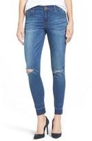 Women's Wit & Wisdom Ripped Release Hem Skinny Jeans