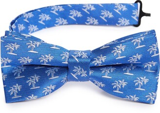 Nordstrom Tropical Trees Silk Blend Bow Tie