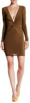 Missguided Slinky Twisted Long Sleeve Mini Dress