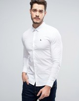 Jack Wills Hinton Skinny Fit Shirt In White