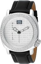 Ecko Unlimited Men's E95012G1 Black Leather Quartz Watch with Dial