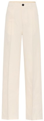 Jil Sander High-rise cotton and silk pants