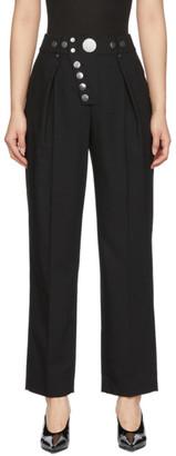 Alexander Wang Black Snap Placket Trousers
