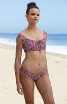 Billabong Del Ray Lace-Up Cropped Bikini Top