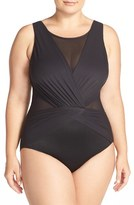 Plus Size Women's Miraclesuit 'Solid Palma' One-Piece Swimsuit