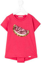 Liu Jo Kids - sequinned watermelon T-shirt - kids - Cotton/Polyester - 2 yrs