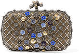 Bottega Veneta The Knot Embellished Metallic Snake Clutch - one size