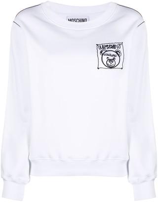 Moschino Teddy Label Cornely crewneck sweatshirt