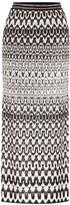 Missoni Striped stretch-knit midi skirt