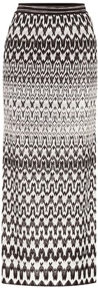 Missoni Striped stretch-knit midi skirt