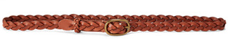 Ralph Lauren Braided Leather Skinny Belt