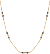 Laura Lee Jewellery Black and Teal Diamond Sleeper Necklace