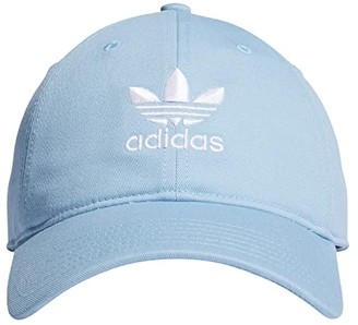 adidas Originals Relaxed Strapback Hat (White/Black) Caps