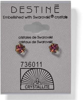 Crystallite Destine Vitrail Medium Cube Earrings