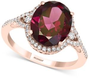 Effy Rhodolite Garnet (4-3/8 ct. t.w.) & Diamond (1/3 ct. t.w.) Ring in 14k Rose Gold
