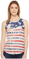 Lucky Brand Flag Print Tank Top Women's Sleeveless