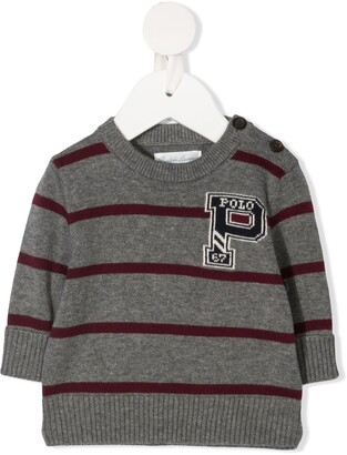 Ralph Lauren Kids Striped Cotton Jumper
