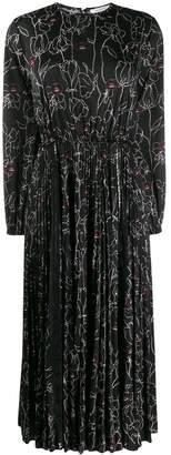 Valentino floral lips print flared dress