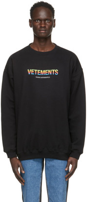 Vetements Black Think Differently Sweatshirt