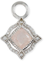 Jude Frances Lisse 18K Delicate Cushion Morganite Earring Charms with Diamonds