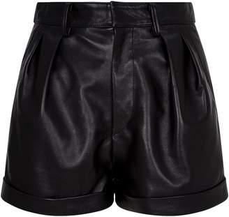 Isabel Marant Leather Fabot Shorts