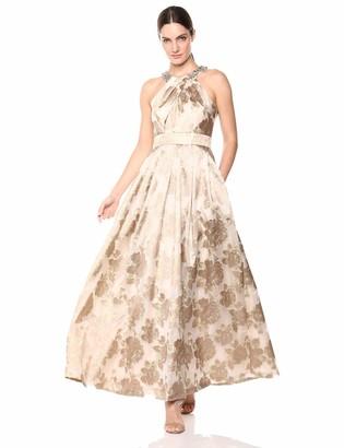 Brinker & Eliza Women's Beaded Halter Gown