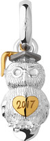 Links of London Graduation Owl Sterling Silver and 18ct Yellow Gold Vermeil charm