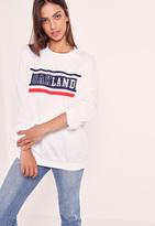 Missguided Oakland Sweatshirt White