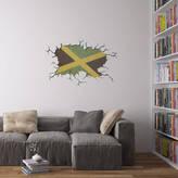 Vinyl Revolution Cracked Wall Flag Of Jamaica Vinyl Wall Art