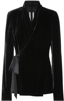 Rick Owens Silk-blend velvet top