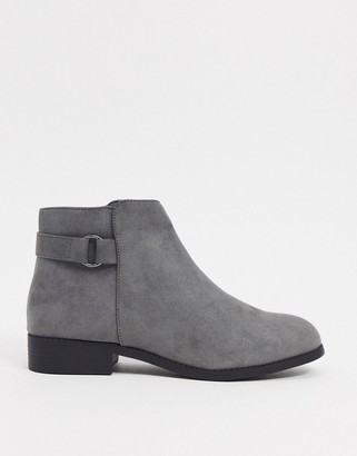 New Look faux suede ankle boots in grey