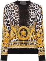 Versace Wild Baroque Print Sweatshirt