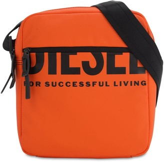 Diesel Logo Print Tech Crossbody Bag