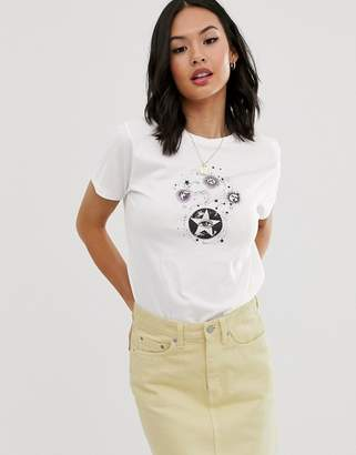 Asos Design DESIGN t-shirt with mystical print in organic cotton
