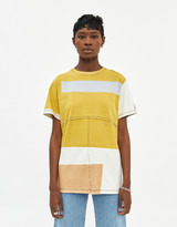 Eckhaus Latta Women's Lapped Oversized T-Shirt in Atmospheric Screen Print, Size Extra Small | 100% Cotton