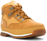 Timberland Euro Hiker Mid Fabric and Leather Grade School