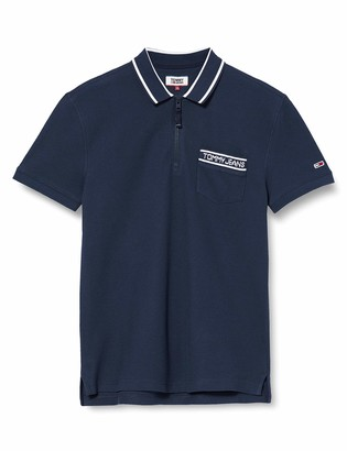 Tommy Jeans Men's TJM BRANDED POCKET POLO Shirt