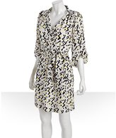 Diane Von Furstenberg lightning print silk 'Bairly Louche' belted shirtdress
