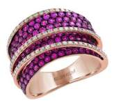 Effy Amore Ruby, Diamond and 14K Rose Gold Ring